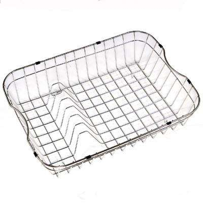 Wirecraft 5.25 in. High Rinsing Basket, Stainless Steel