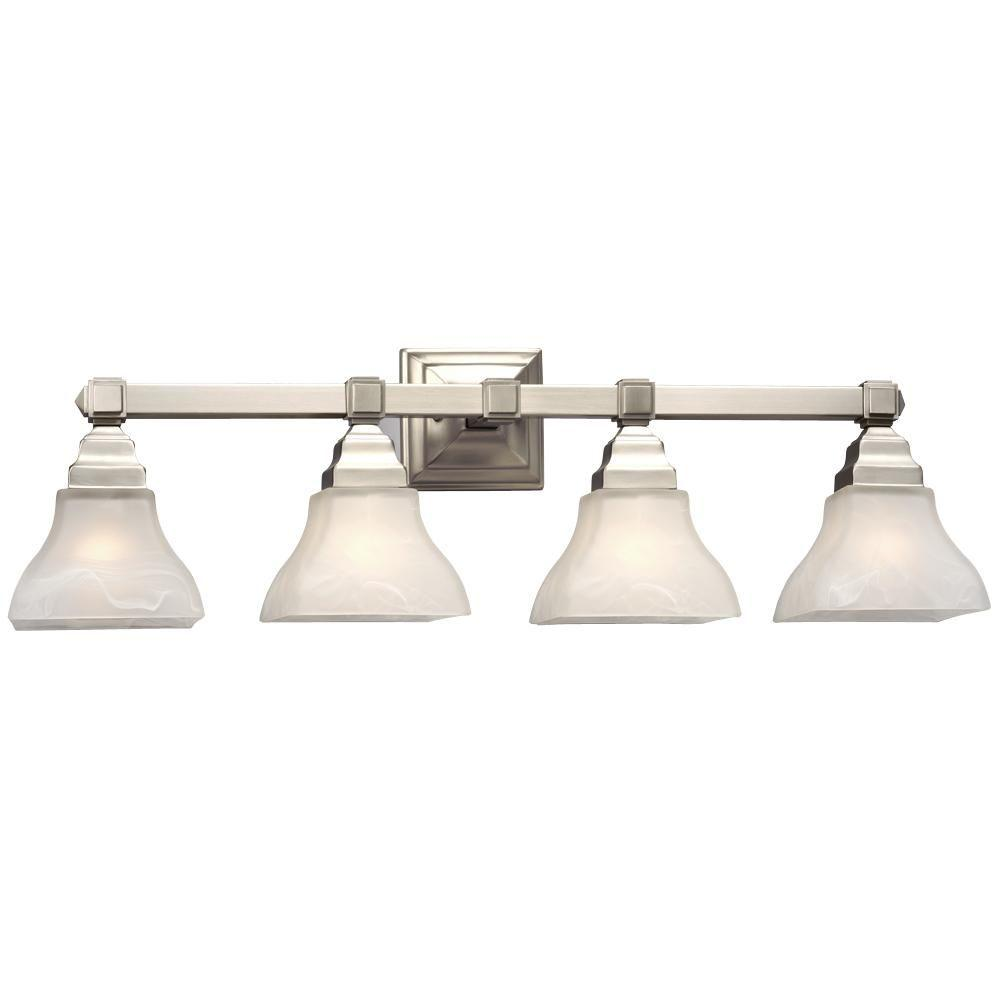 Filament Design Negron 4-Light Pewter Incandescent Bath Vanity