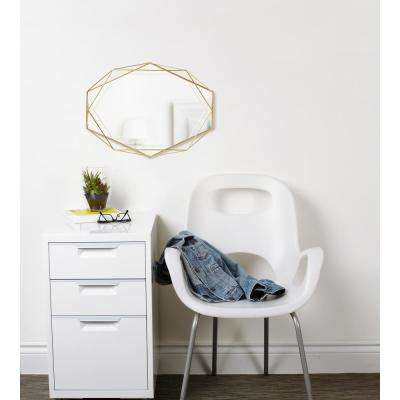 Clear Brass Prisma Wall Mirror