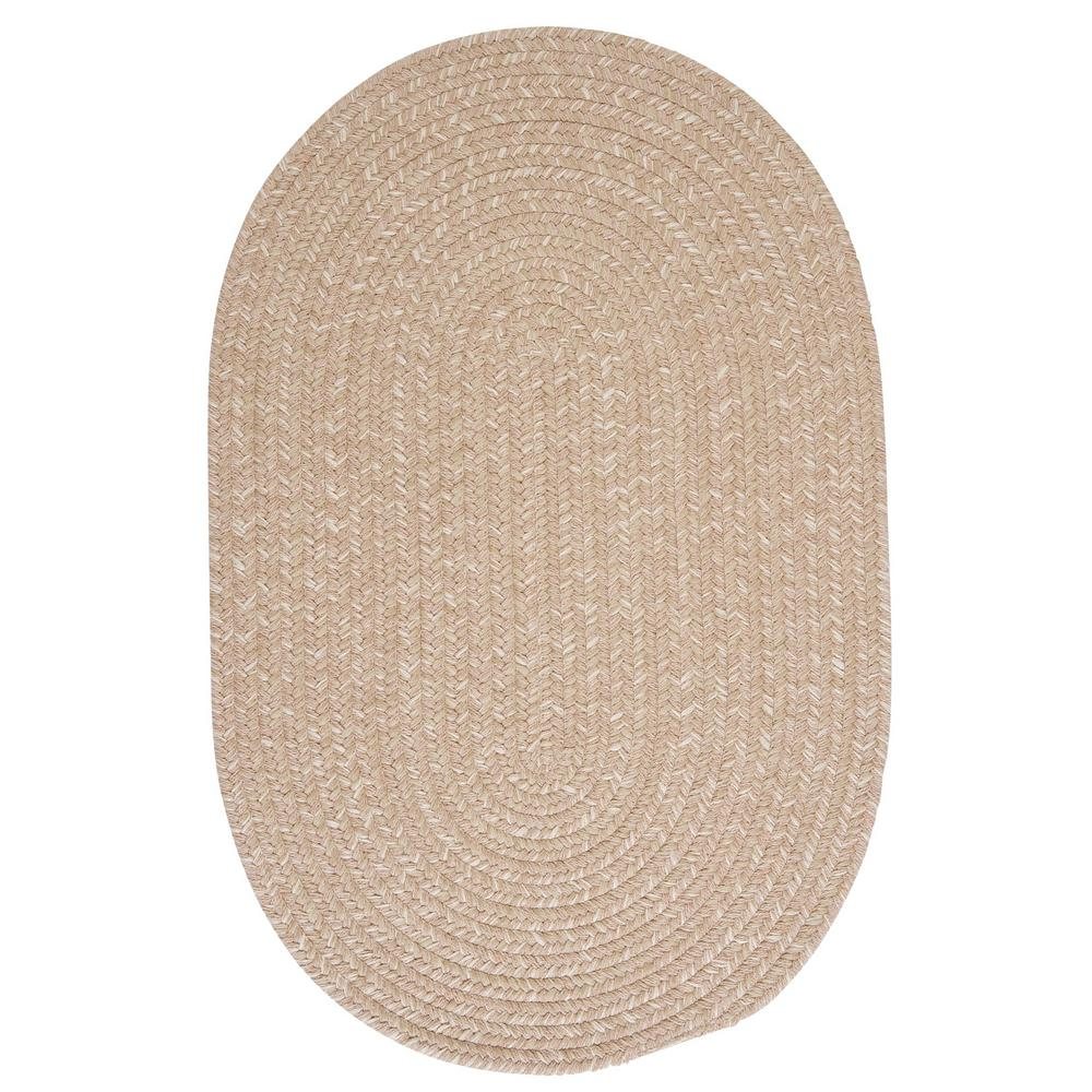 Home Decorators Collection Cicero Oatmeal 5 ft. x 8 ft. Braided Oval Area Rug