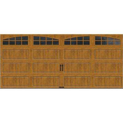 Gallery Collection 16 ft. x 7 ft. 18.4 R-Value Intellicore Insulated Ultra-Grain Medium Garage Door with Arch Window
