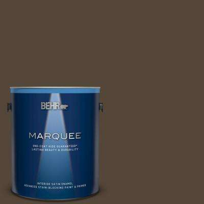 1 gal. #780B-7 Bison Brown Satin Enamel Interior Paint and Primer in One