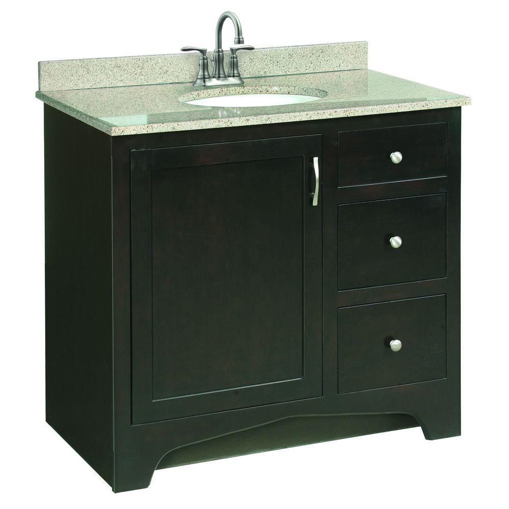 Design House Ventura 36 In. W X 21 In. D Pre-Assembled Vanity Cabinet Only In Espresso-539619