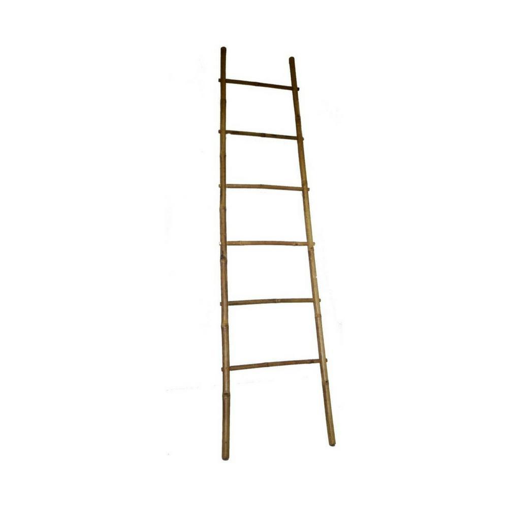 84 in. H 5-Bar Ladder Rack in Bamboo