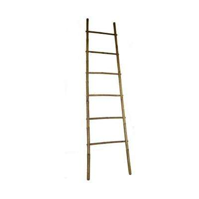 84 in. H 5-Bar Ladder Rack in Bamboo