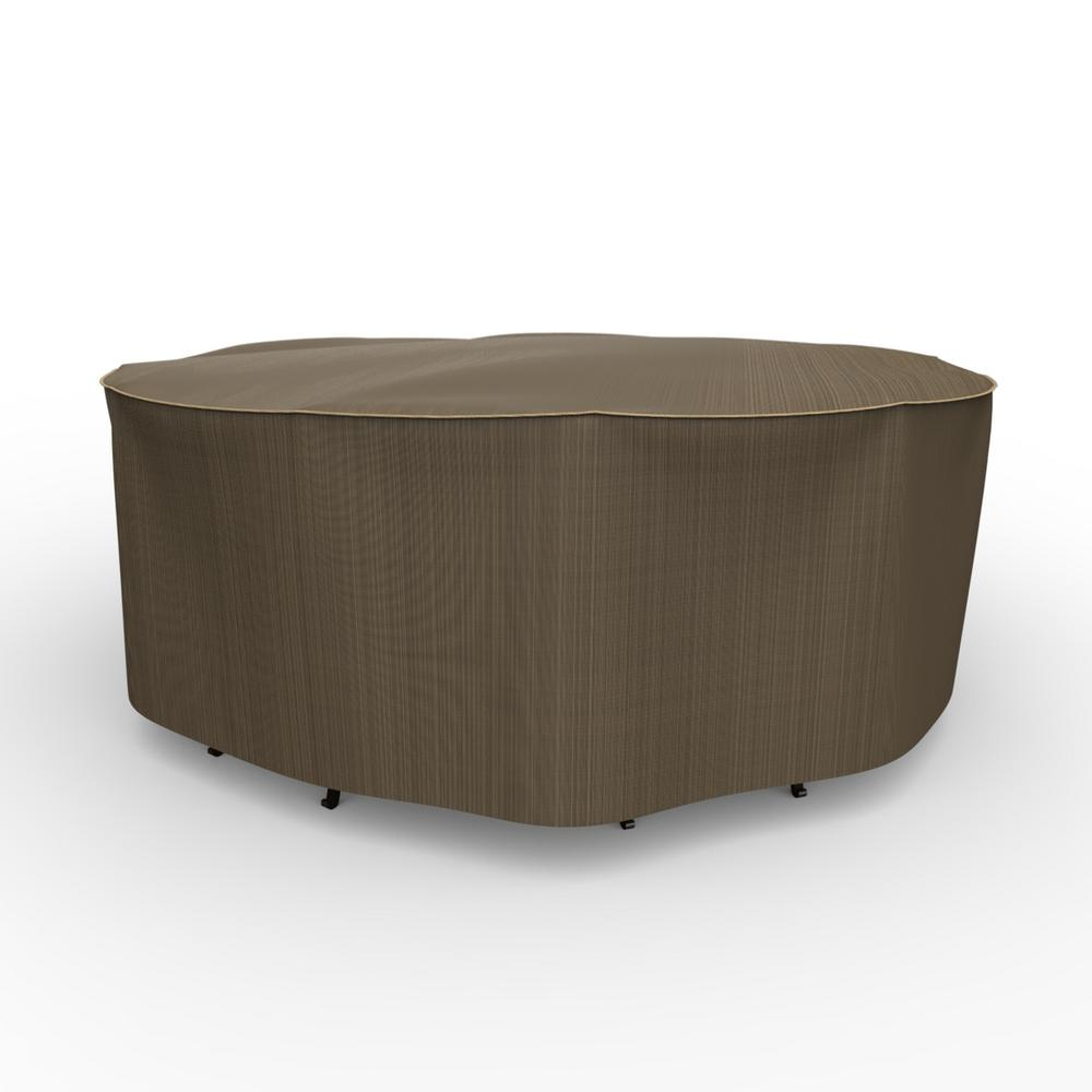 Rust-Oleum NeverWet Hillside Extra-Large Black and Tan Round Table and Chairs Combo Cover