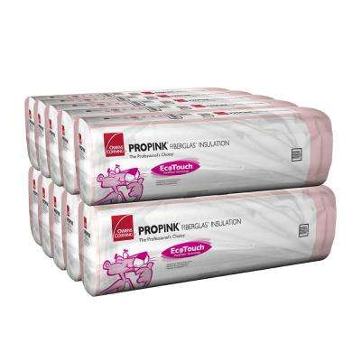 R-13 EcoTouch PINK Kraft Faced Insulation Fiberglass Insulation Batt 16 in. x 96 in. (10-Bags)