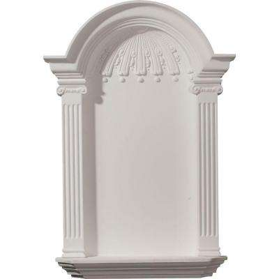 21-1/8 in. x 4-1/4 in. x 33-3/4 in. Primed Polyurethane Surface Mount Small Waltz Wall Niche