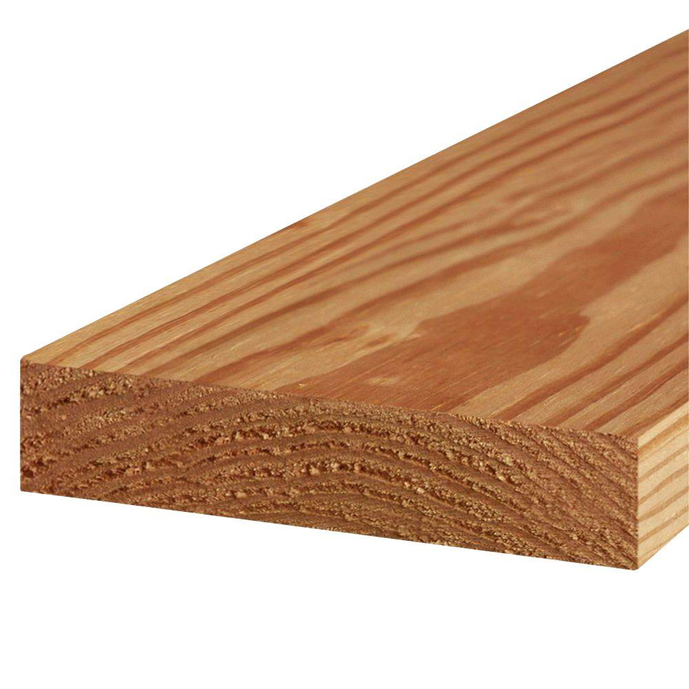 2 in. x 8 in. x 16 ft. #2 Prime Cedar-Tone Ground Contact Pressure-Treated Lumber