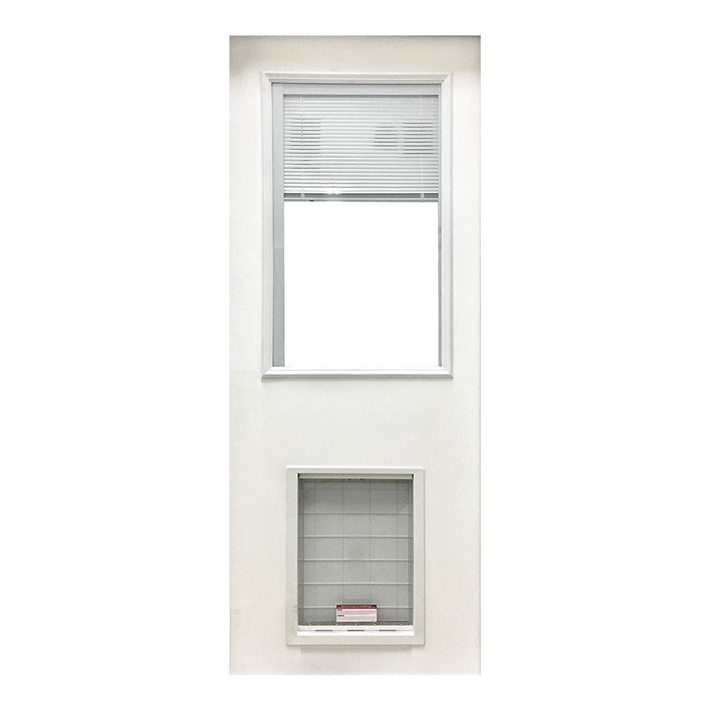 Steves Sons 31 34 In X 79 In Clear Half Lite Mini Blind White