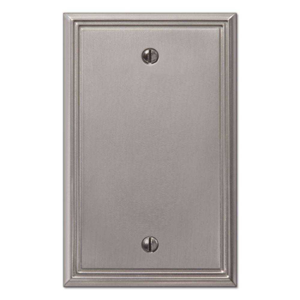 Creative Accents Metro Line Blank Wall Plate - Brushed Nickel