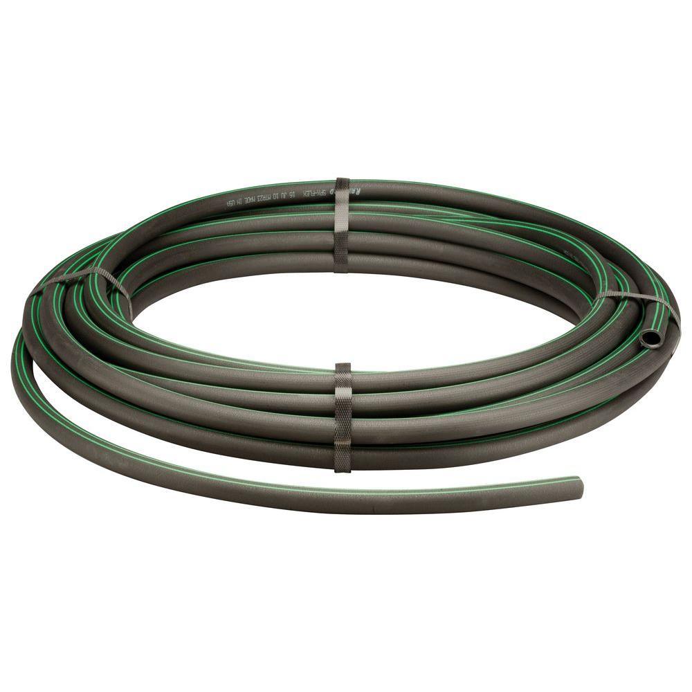Swing Pipe 100 ft Coil Sprinkler Installation Black Durable Irrigation Tubing