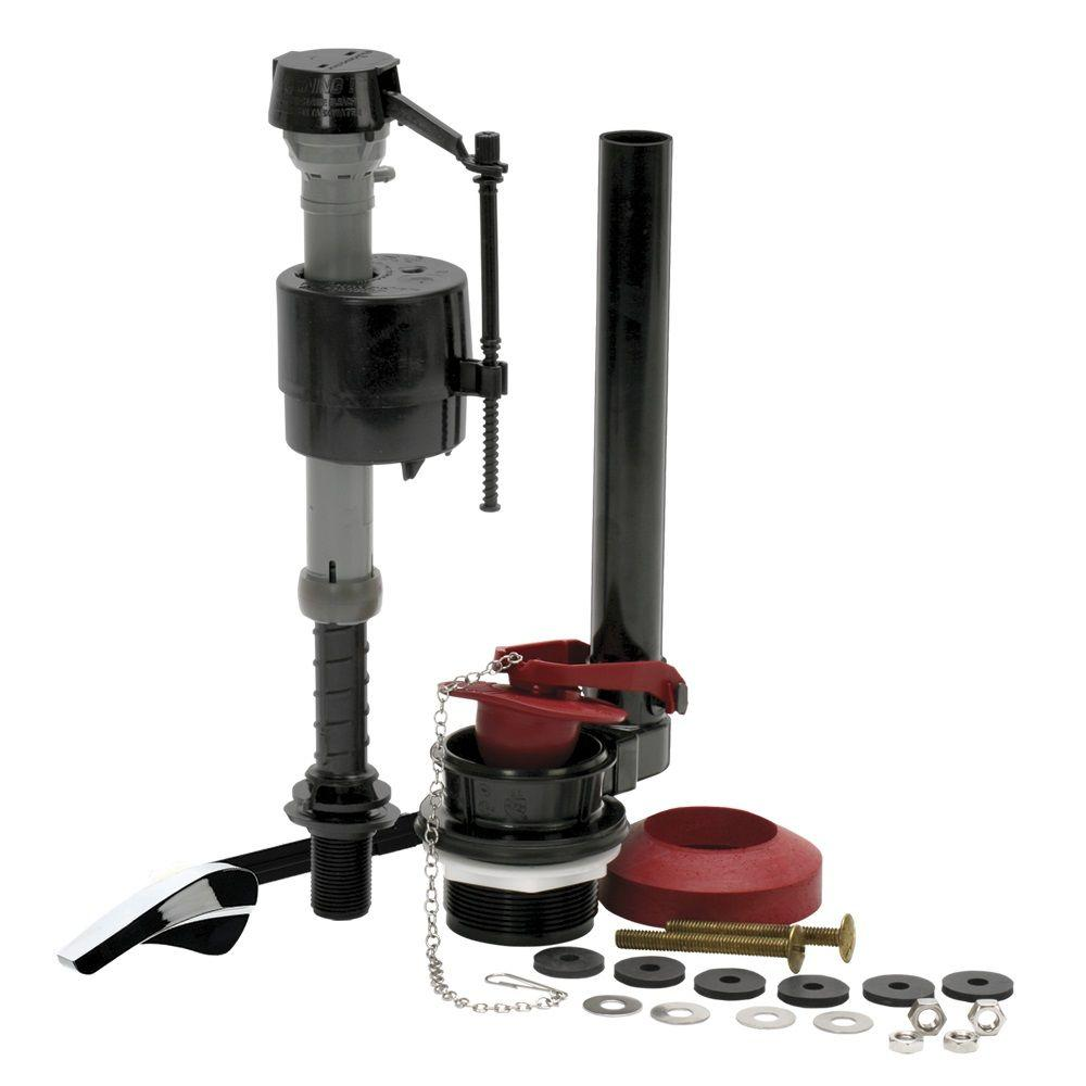 replacing toilet tank parts. Fluidmaster Complete Toilet Repair Kit 400AKRP10  The Home Depot