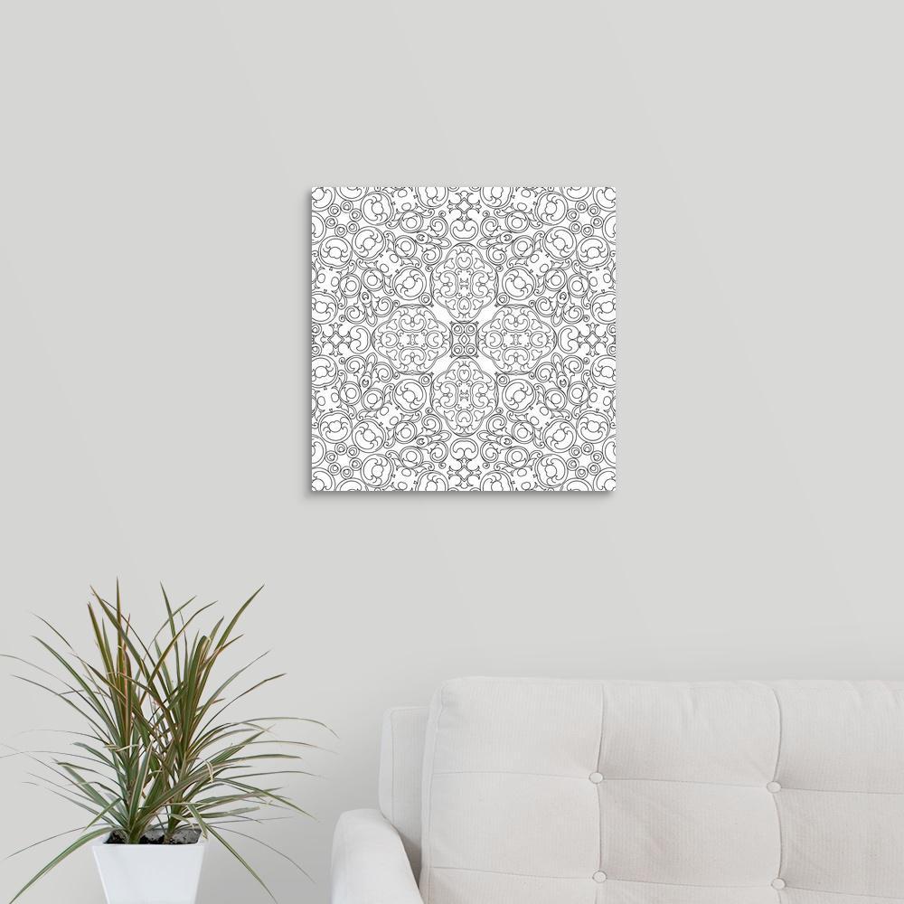 GreatBigCanvas ''Baroque Pattern'' by Circle Kids Canvas Wall Art 2393528_24_16x16