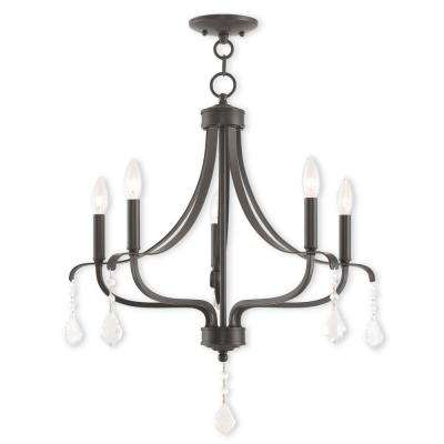 Laurel 5-Light English Bronze Chandelier