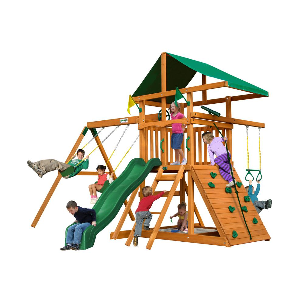 Gorilla Playsets Outing Iii Cedar Playset 01 0001 The