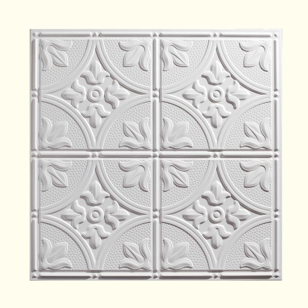 Genesis 2 ft x 2 ft antique white ceiling tile 752 00 the home antique white ceiling tile dailygadgetfo Image collections