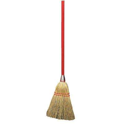 40 in. Corn Lobby Broom (12-Pack)
