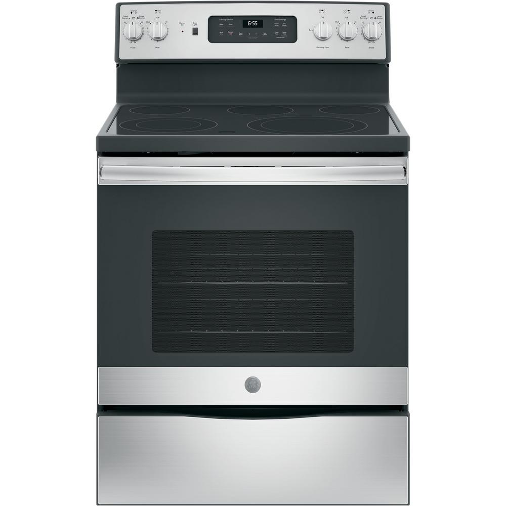 Electric Range With Self Cleaning Convection Oven In Stainless Steel