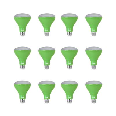 9-Watt Equivalent BR30 Medium E26 Non-Dimmable Indoor and Greenhouse Full Spectrum Plant Grow LED Light Bulb (12-Pack)