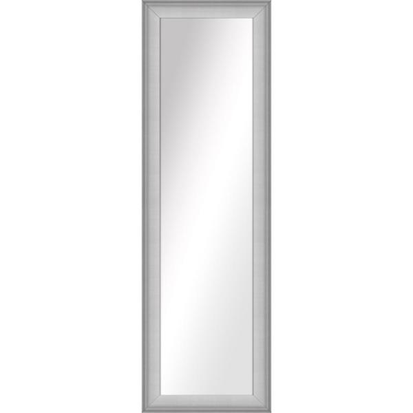 Large Rectangle Stainless Silver Art Deco Mirror (52.5 in. H x 16.5 in. W)
