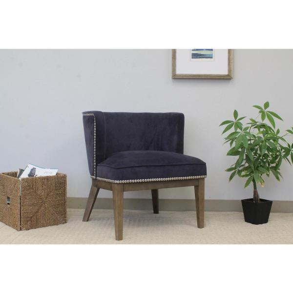 Boss Purple Velvet Ava Accent Chair