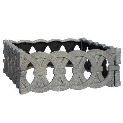 25 in. x 25 in. Special Aged Granite Square Cast Stone Iron Stone Edger (4-Pack)