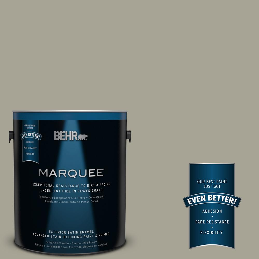 BEHR MARQUEE Home Decorators Collection 1-gal. #HDC-NT-01 Woodland Sage Satin Enamel Exterior Paint