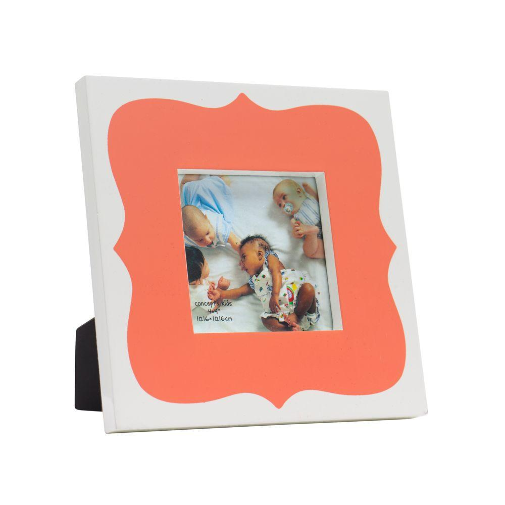 Home Decorators Collection 4 in. W Scalloped Coral High-Gloss Frames