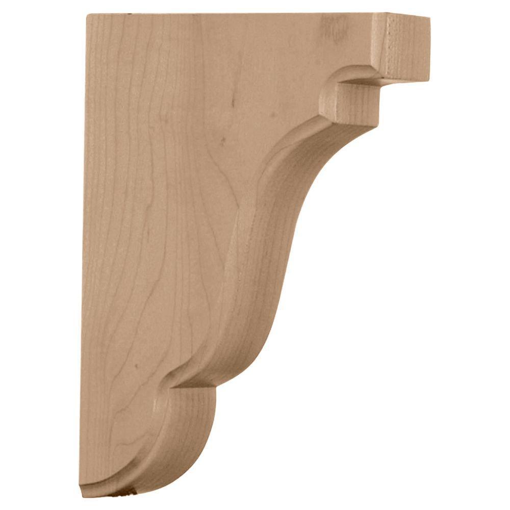 1-3/4 in. x 5 in. x 7-1/2 in. Alder Bedford Wood Bracket