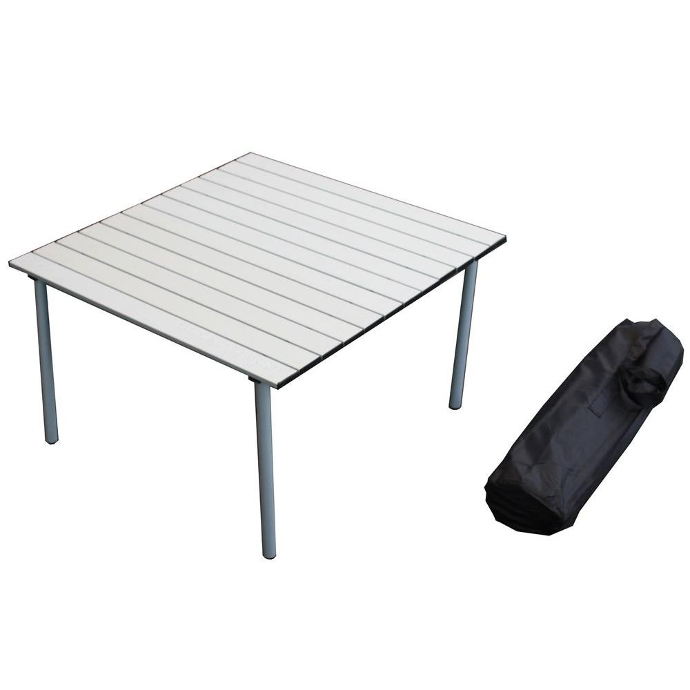 Table in a Bag Low Aluminum Table Silver-DISCONTINUED