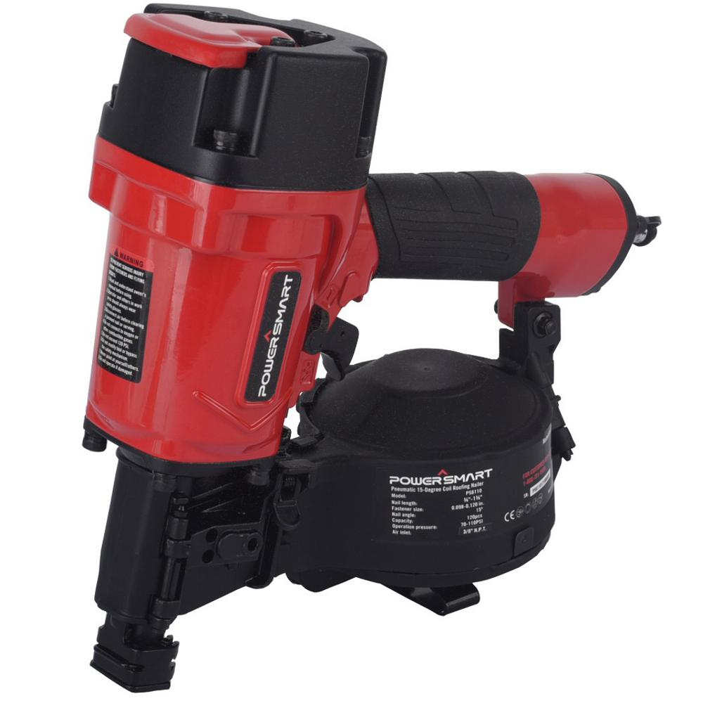Powersmart Pneumatic 15 Degree Coil Cordless Roofing