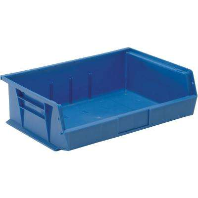 Ultra Series Stack and Hang 7.2 Gal. Storage Bin in Blue (6-Pack)
