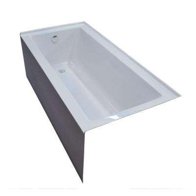 Amber 5 ft. Acrylic Rectangular Drop-in Non-Whirlpool Bathtub in White