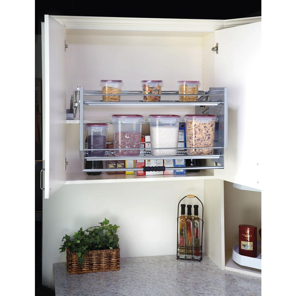 Rev A Shelf 18 87 In H X 34 25 W 10 D Large Wall Cabinet Pull Down Shelving System 5pd 36crn The Home Depot