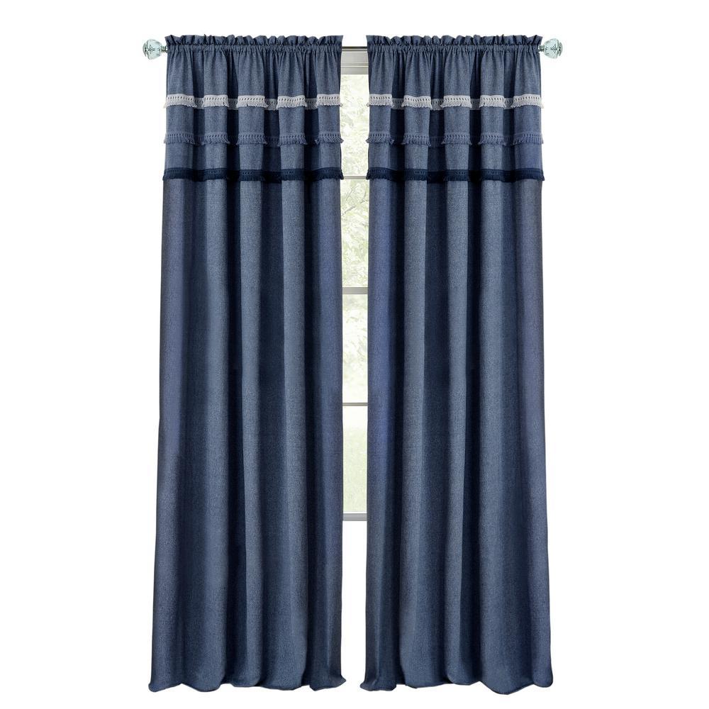 Achim Home Furnishings Achim Home Imports Pom Rod Pocket Window Curtain Panel Bright 52 x 64