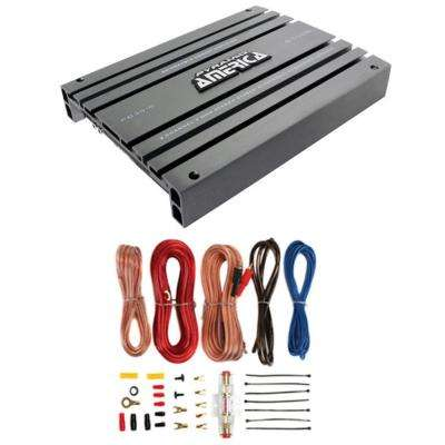PB918 2000-Watt 2 Channel Car Audio Amplifier Power Bridgeable+8 Ga Amp Kit