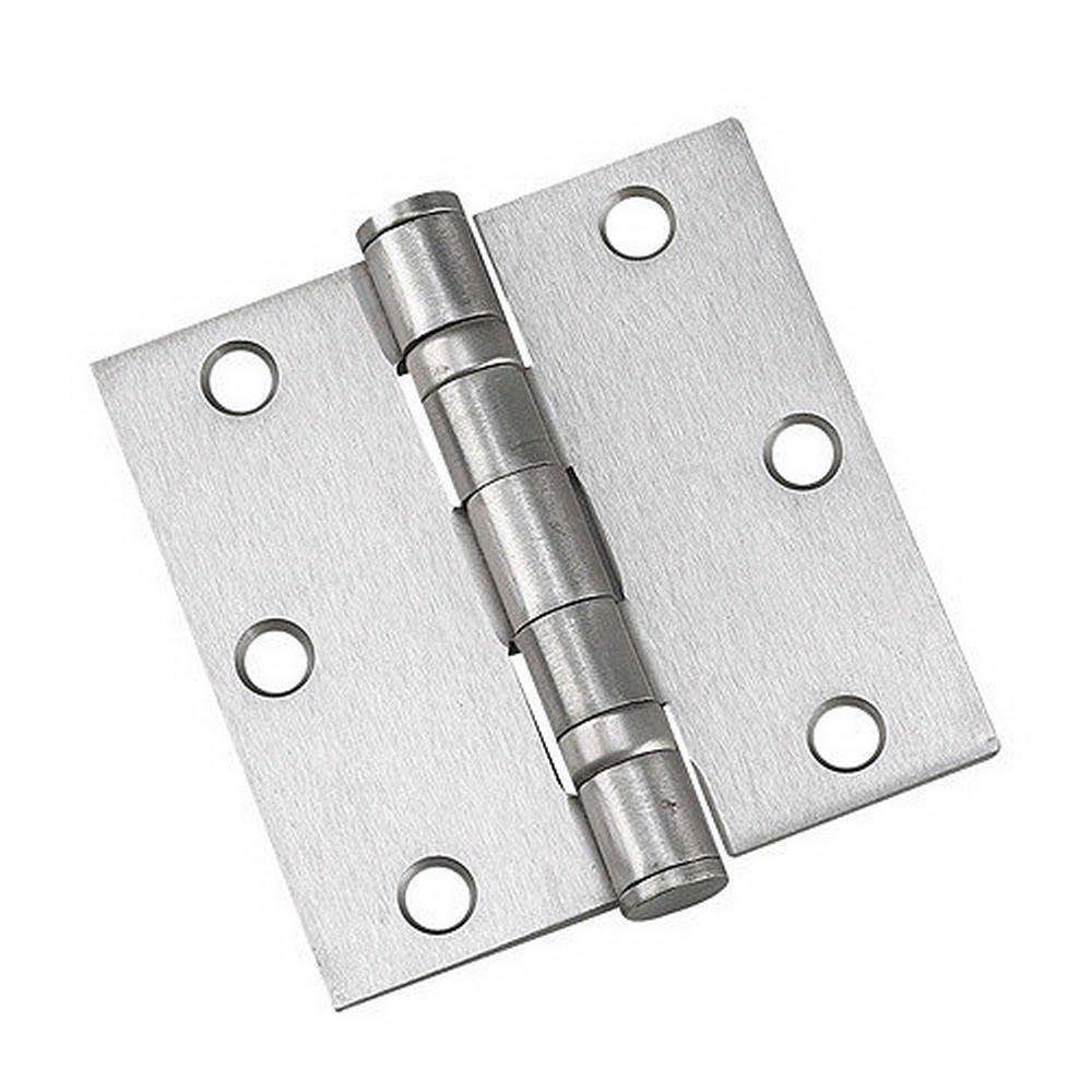 (2-Pack) Full Mortise Inset Brushed Nickel Hinge