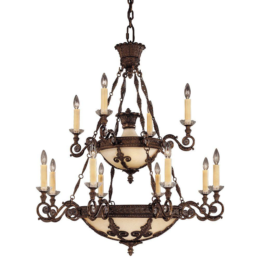 Illumine 12-Light Chandelier New Tortoise Shell Finish