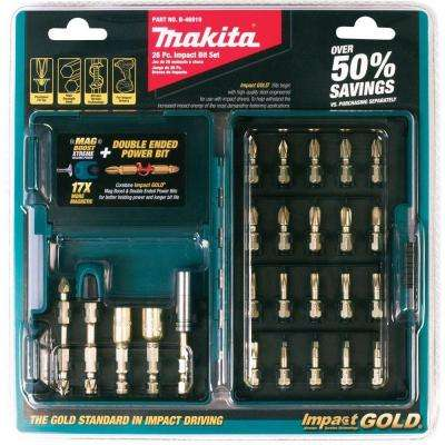 Impact Gold Steel Driver Bit Set (26-Piece)