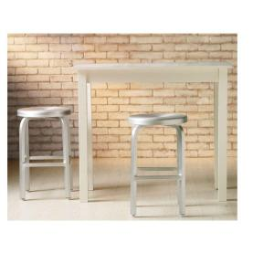 Brushed Aluminum Swivel Bar Stool  sc 1 st  The Home Depot : aluminum bar stools swivel - islam-shia.org