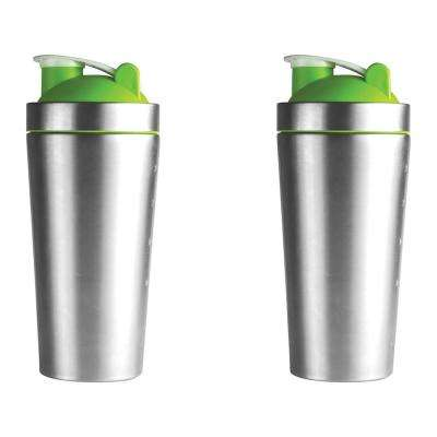 2-Piece Green 30 oz. Shake It Baby Workout Bottle Set