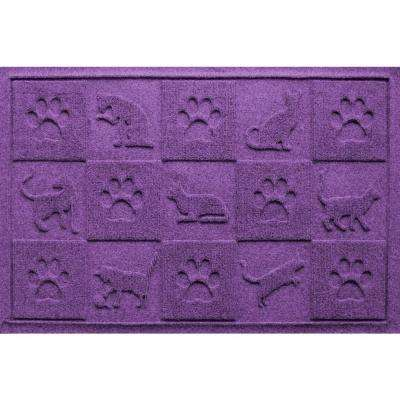 Purple 24 in. x 36 in. Cat in the Mat Pet Mat