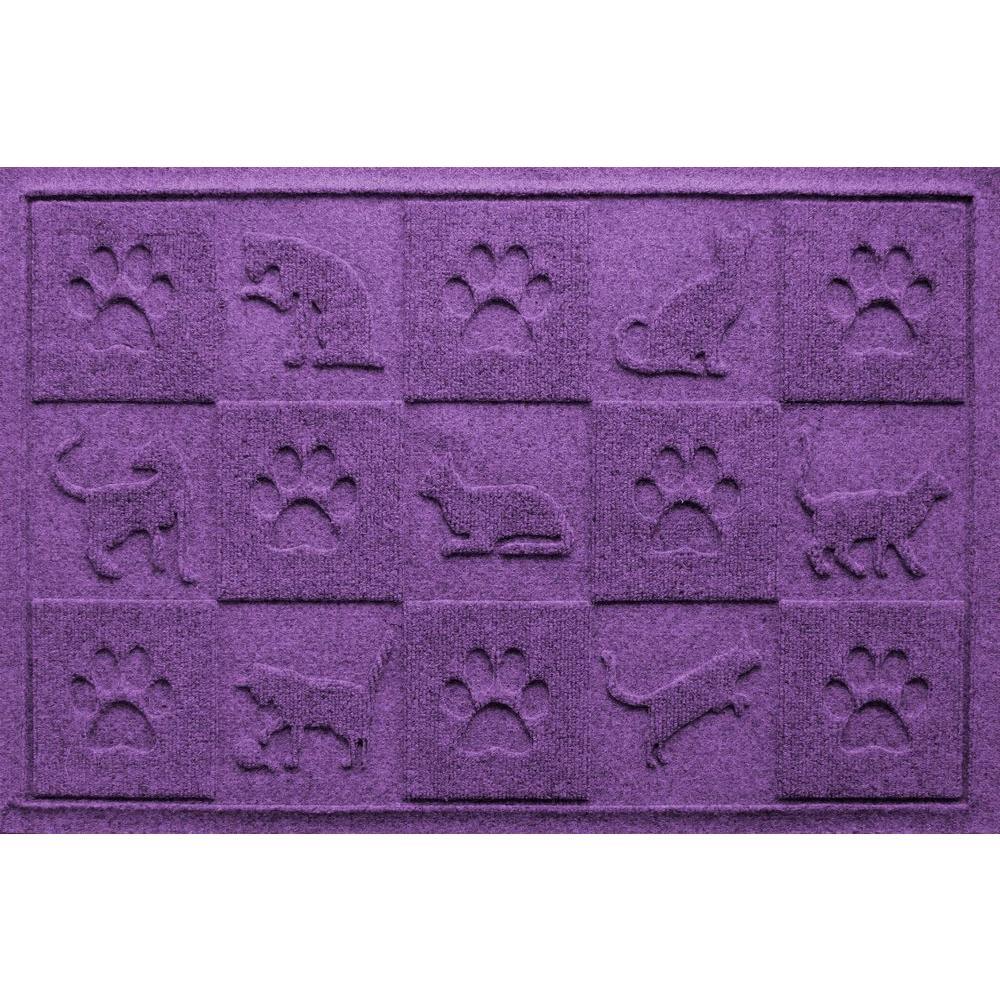 Purple 24 in. x 36 in. Cat in the Mat Pet Mat
