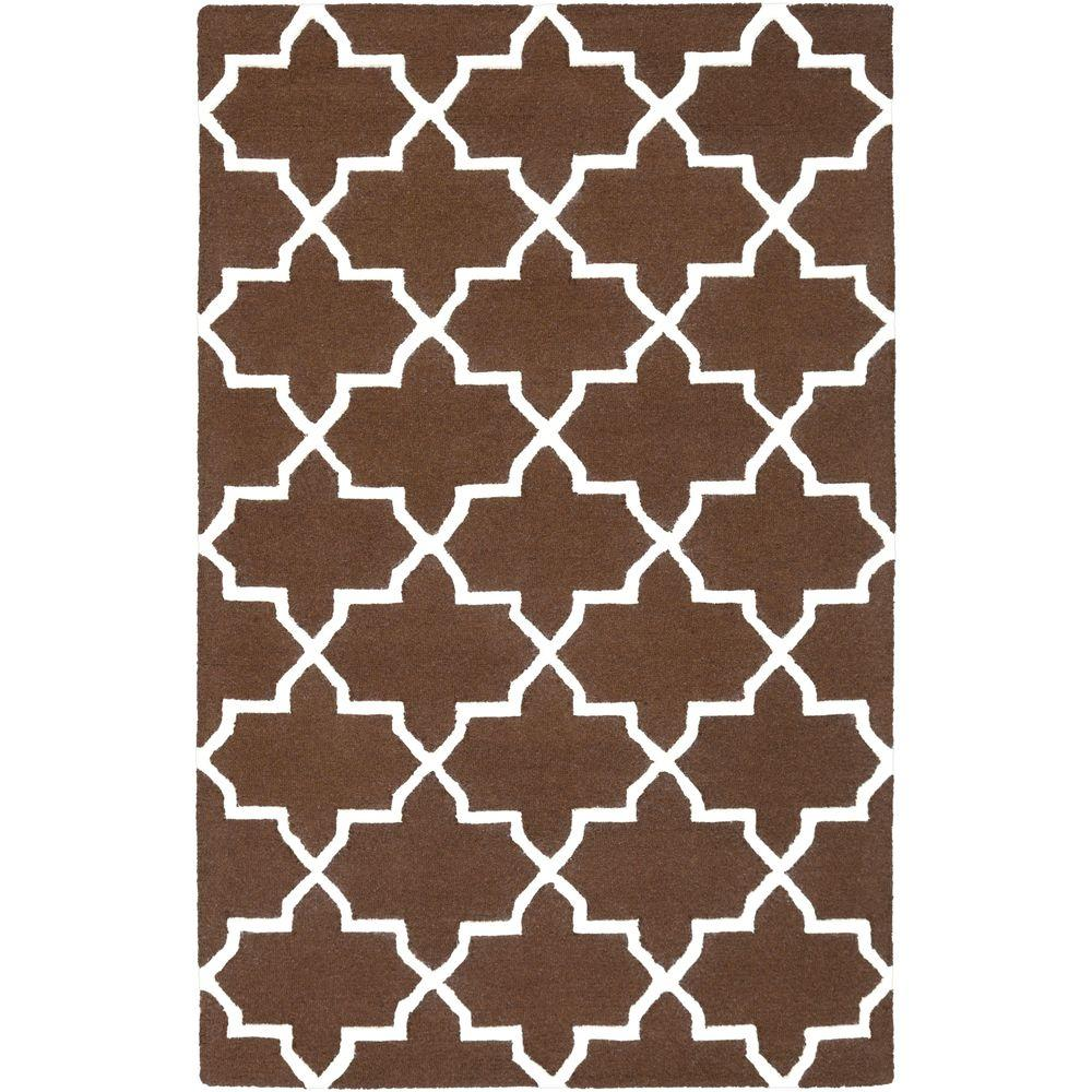Pollack Keely Chocolate 4 ft. x 6 ft. Indoor Area Rug
