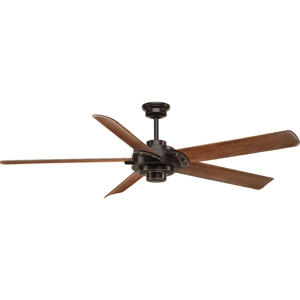 Progress Lighting Ellwood Collection 68 In. Indoor Antique Bronze Ceiling  Fan With Remote
