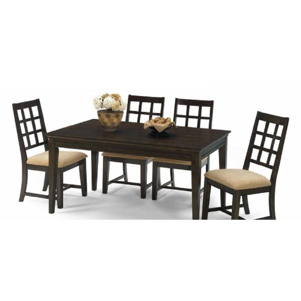 Progressive Furniture Casual Traditions Walnut Rectangular Dining Table P107d 10 The Home Depot