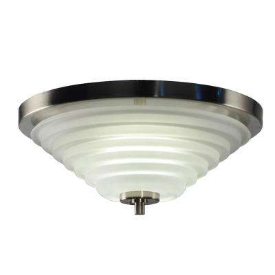 Solomon 18-Watt Satin Nickel Integrated LED Ceiling Flushmount