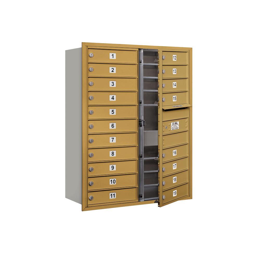 3700 Horizontal Series 19-Compartment Recessed Mount Mailbox