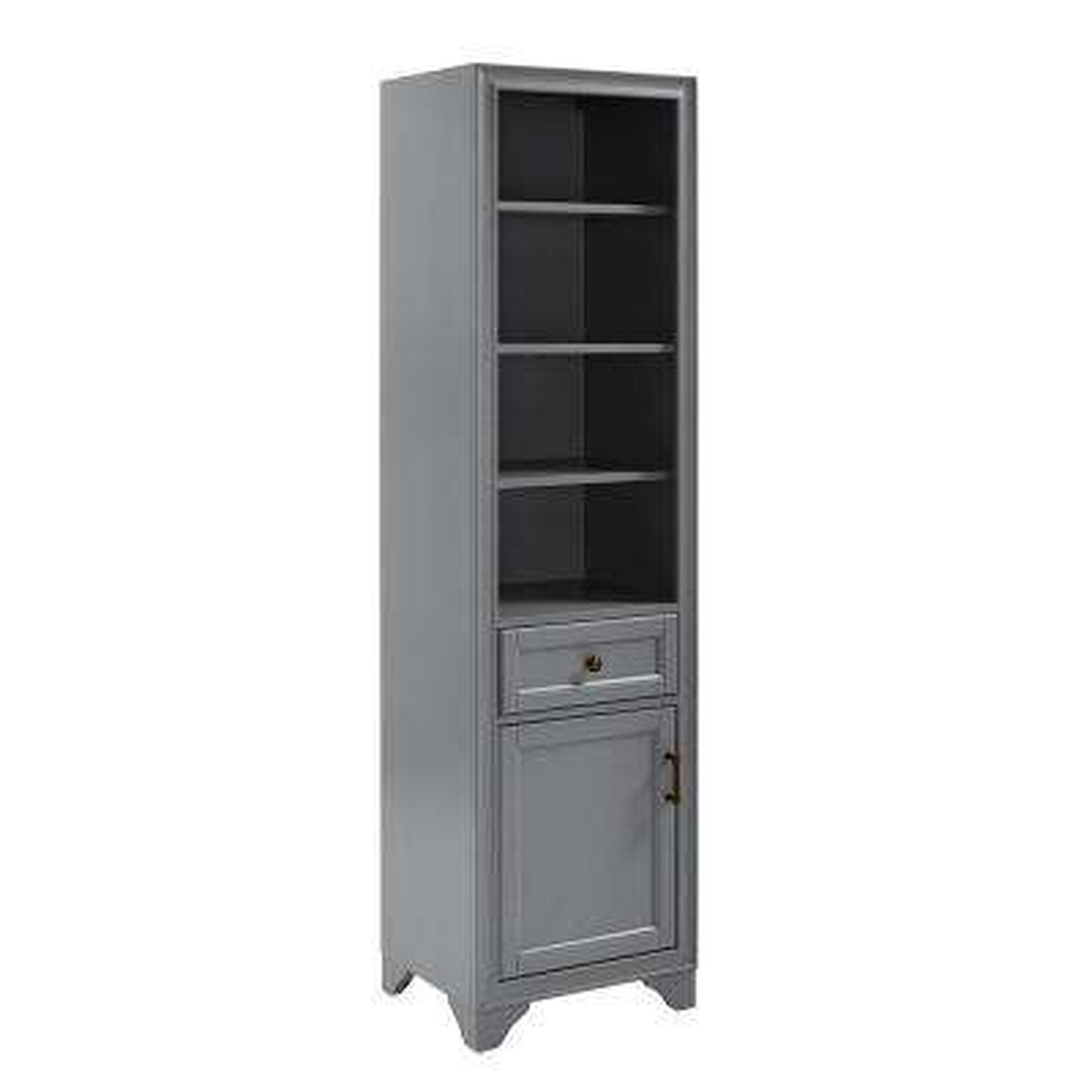 Tara 18 in. W x 15 in. D x 67.62 in. H Linen Cabinet in Grey